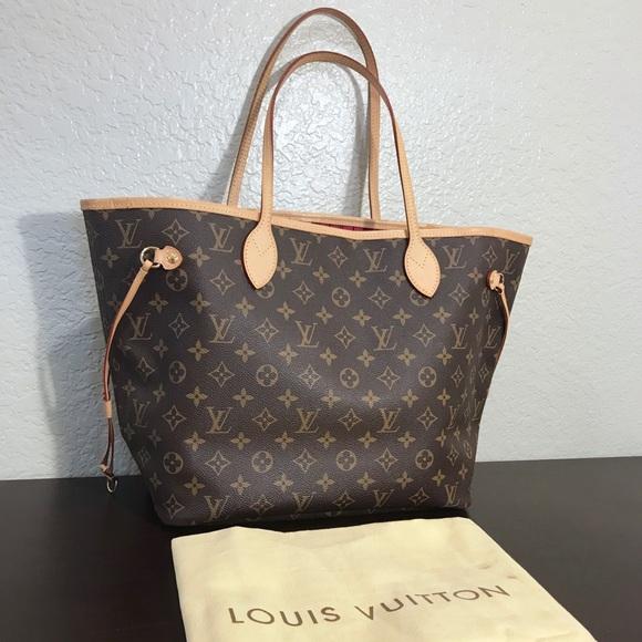 Louis Vuitton Handbags - Sold. Louis Vuitton Neverfull mm Monigram